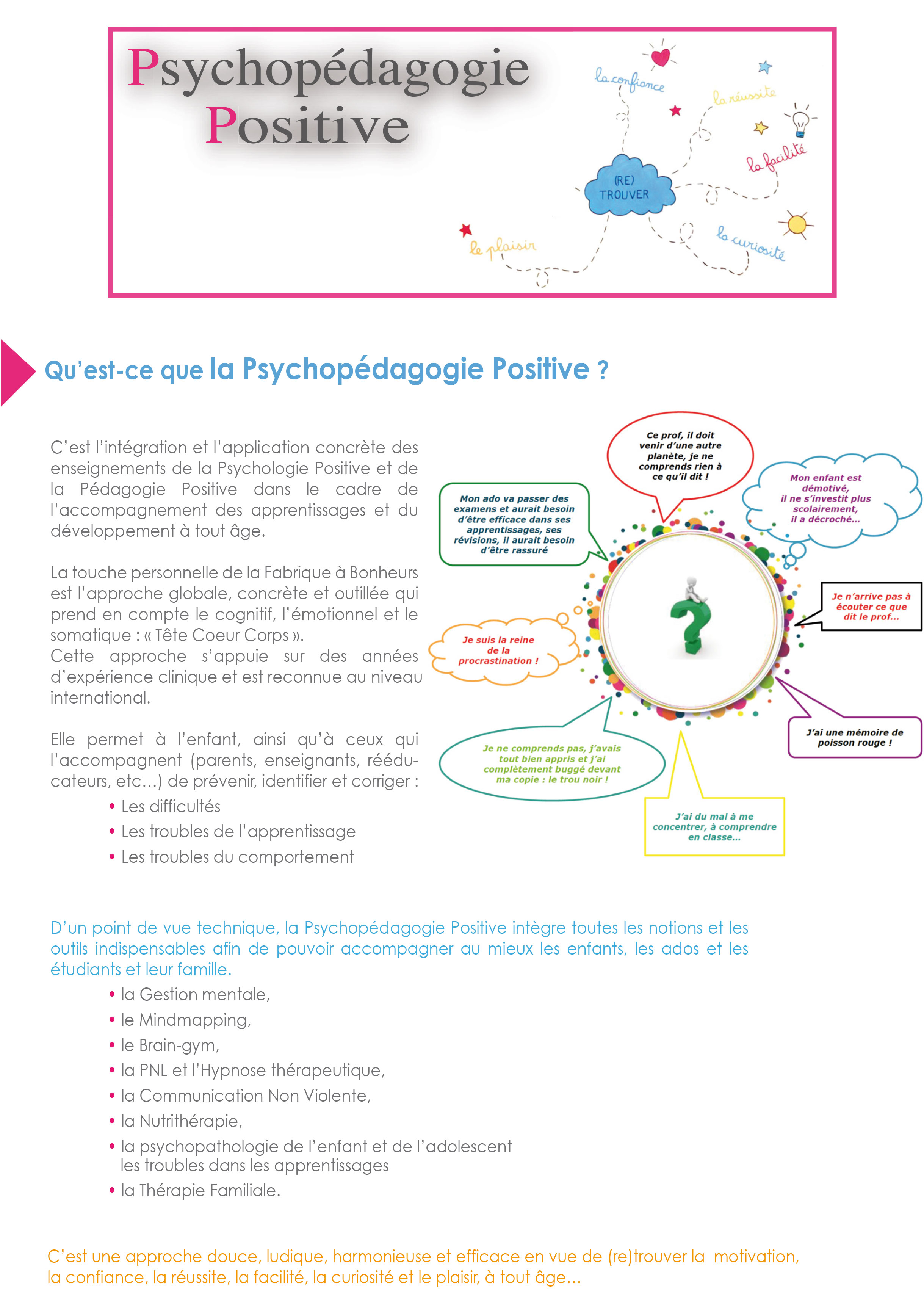 psychopedagogie positive